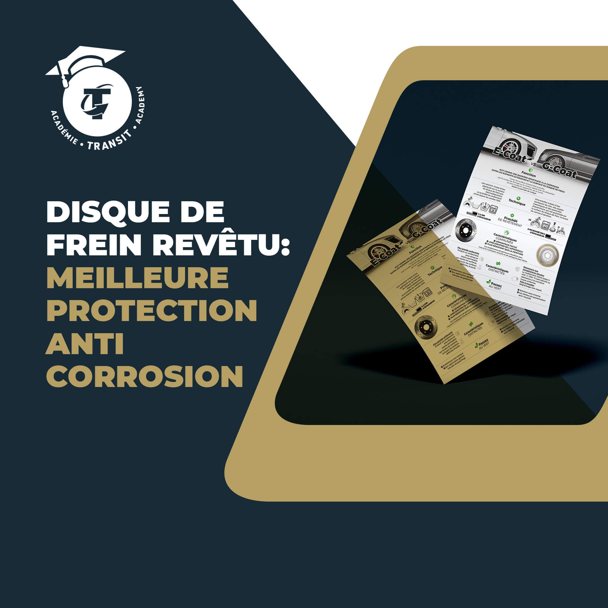 Disque de frein revêtu : meilleure protection anti corrosion