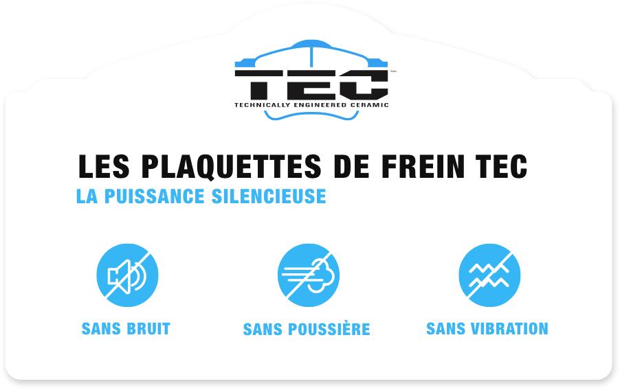 Les plaquettes de frein TEC - La puissance silencieuse